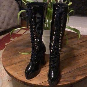 Ellie Knee High Platform Boots size 5